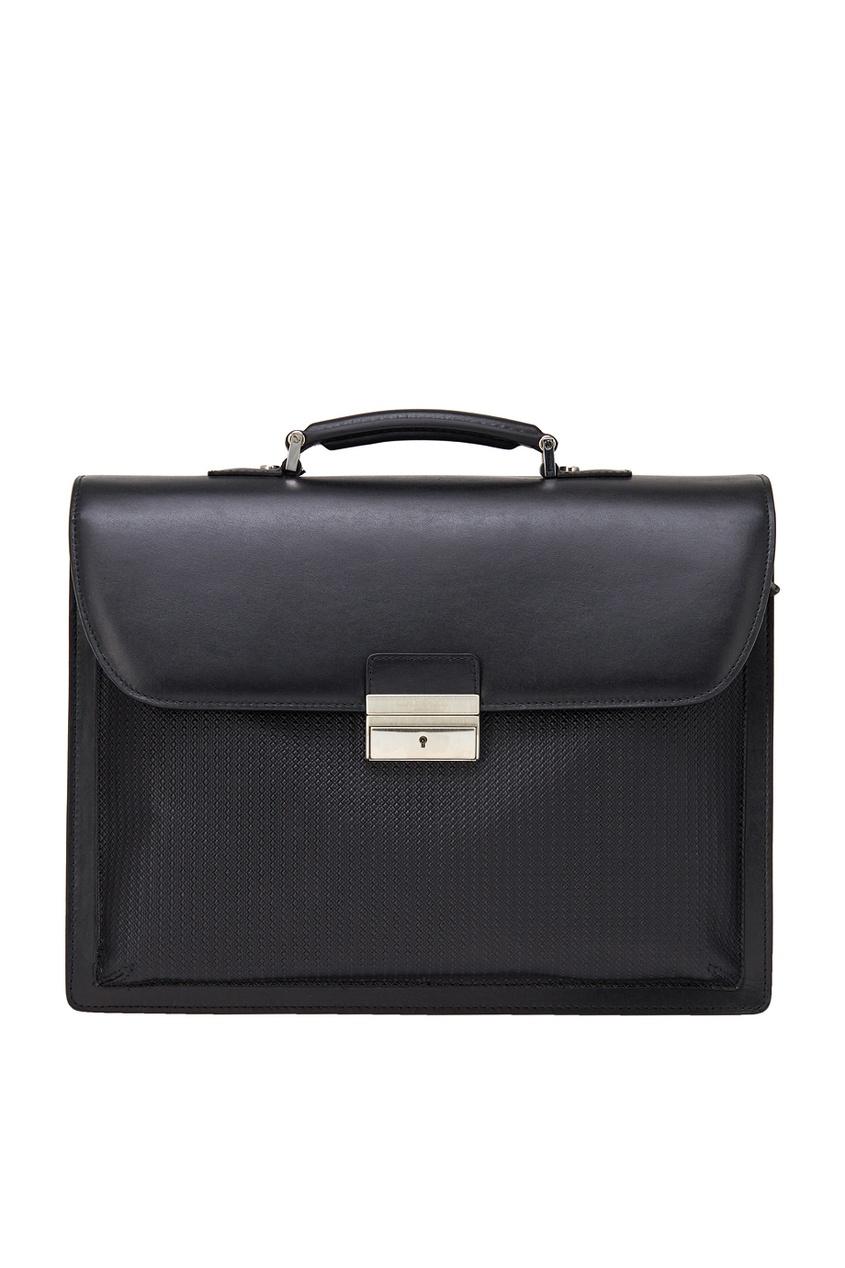 Кожаный портфель черный