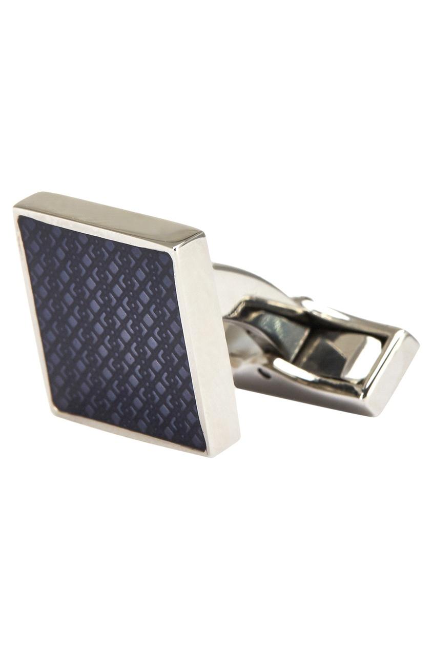Canali Стальные запонки с синей эмалью запонка victor mayer золотые запонки с бриллиантами и эмалью v1256bw