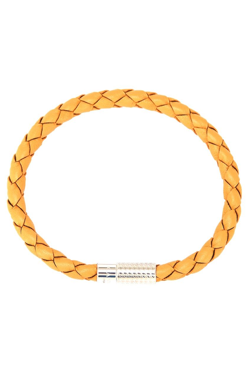 Желтый кожаный браслет от Canali