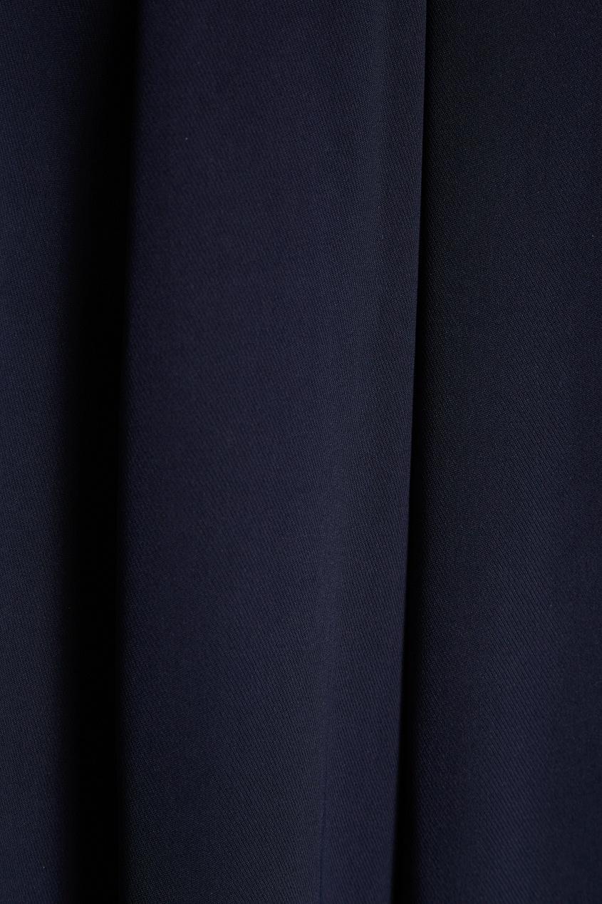 Biryukov Синие брюки-палаццо theory брюки палаццо из хлопка
