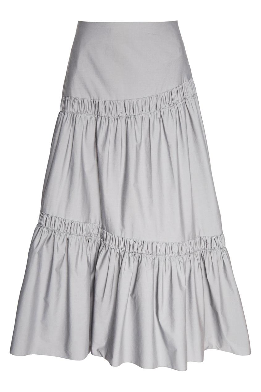 Серая юбка с драпировками