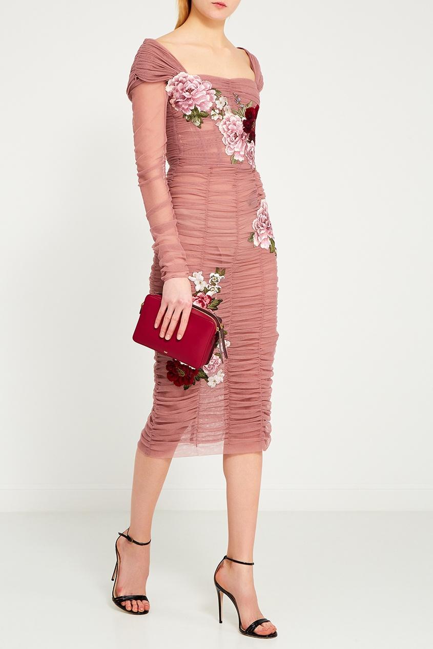 dolce and gabbana платье от gabbana 87443 Dolce&Gabbana Драпированное платье с цветами