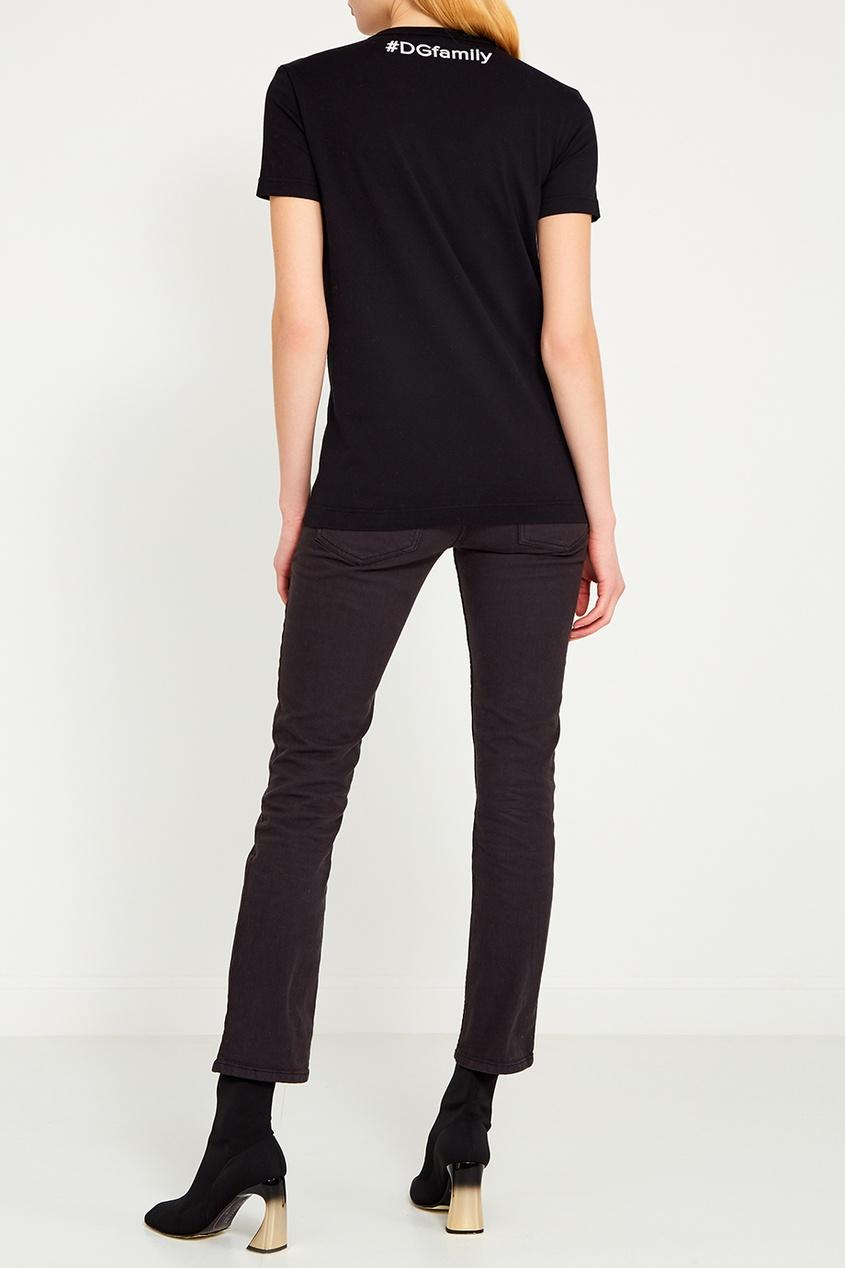 Dolce&Gabbana Черная футболка с надписью