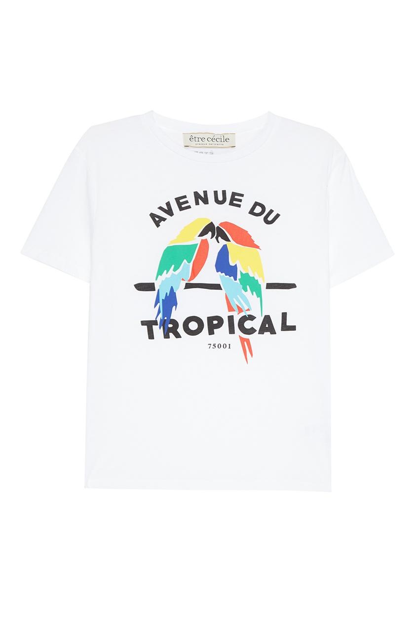 Etre Cecile Белая футболка с попугаями cecile is dead 20