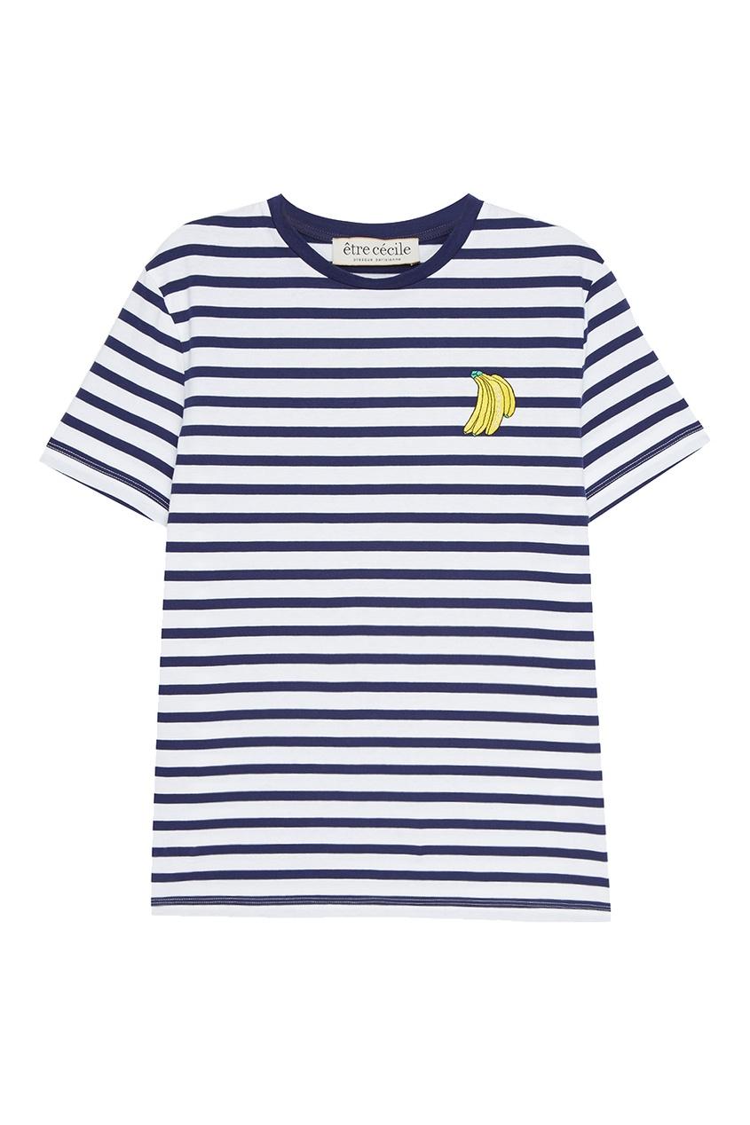 Хлопковая футболка с бананами