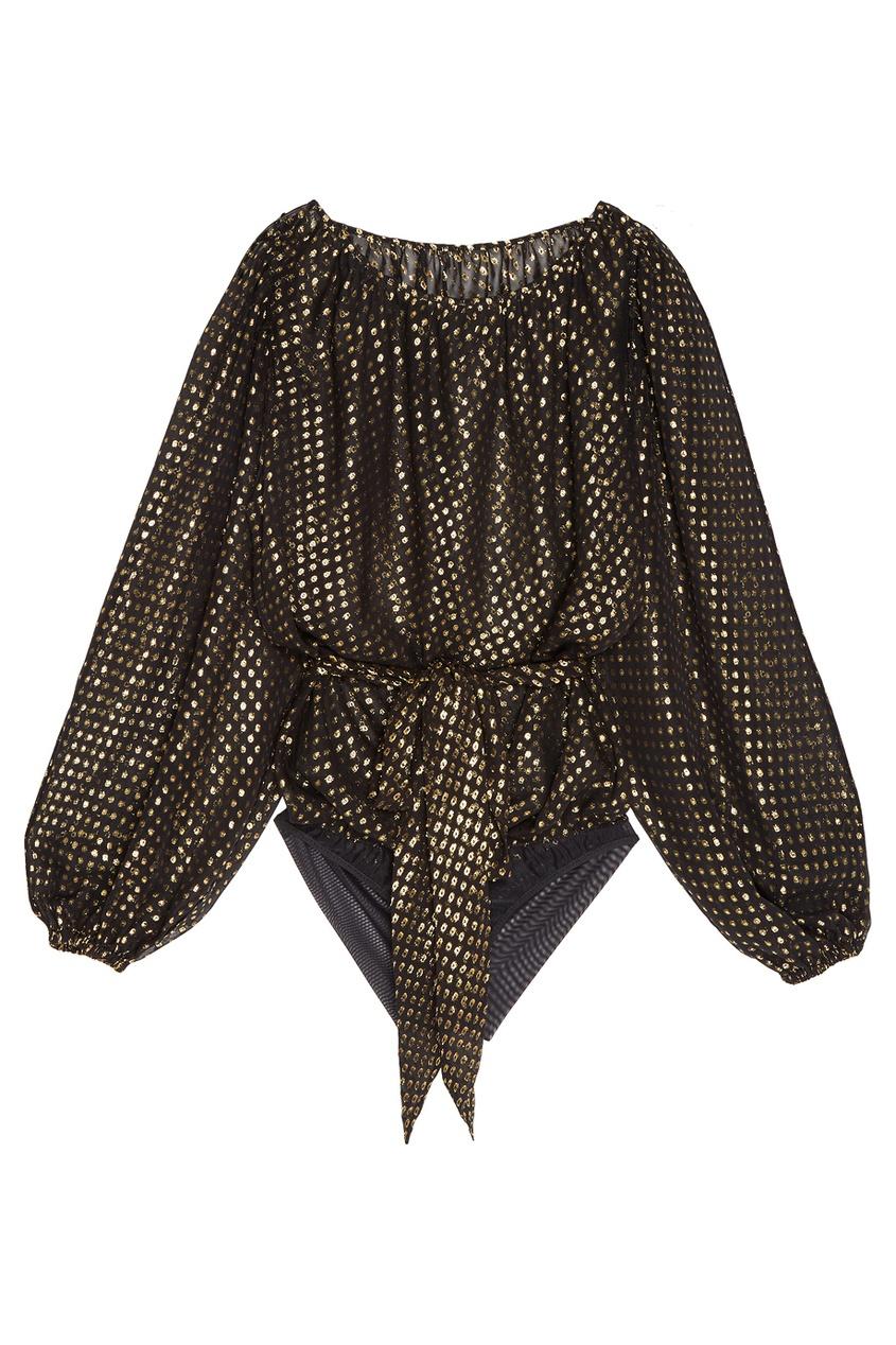 Блузка-боди с люрексом Yasmine
