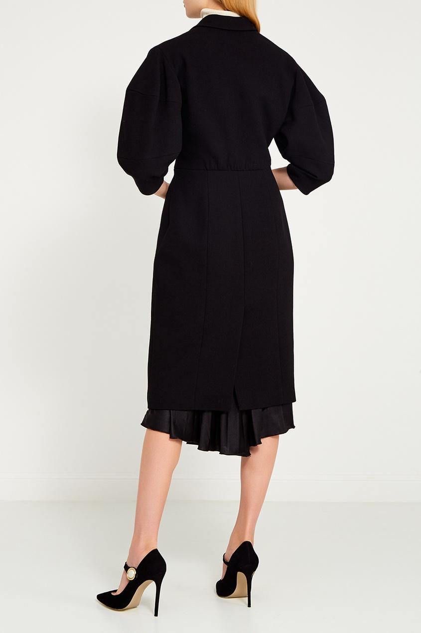 Dolce&Gabbana Черное шерстяное пальто