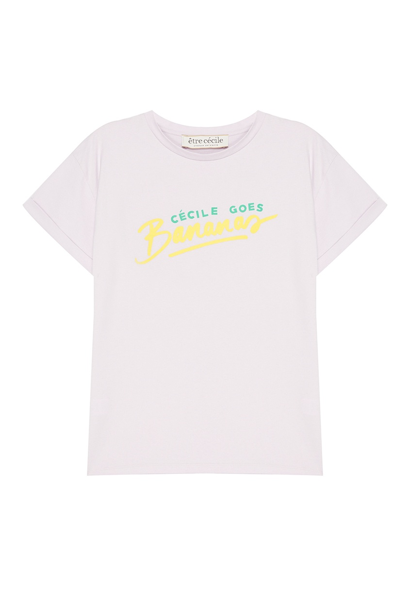 где купить Etre Cecile Фиолетовая футболка с принтом по лучшей цене