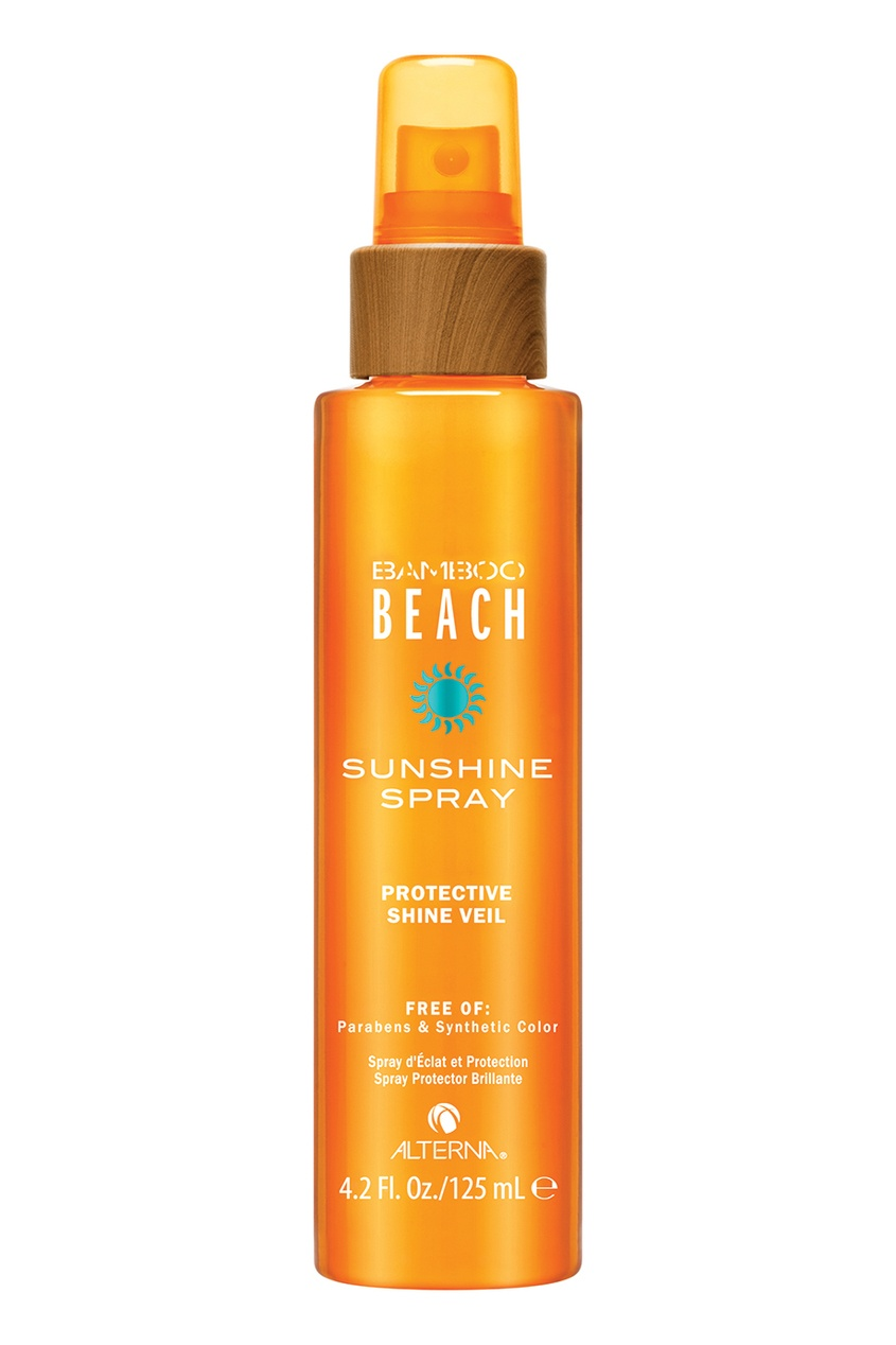 Alterna Спрей для блеска волос Bamboo Beach Summer Sun Shine Spray Protective Shine Veil, 125 ml alterna спрей блеск мгновенного действия caviar anti aging rapid repair spray 125ml