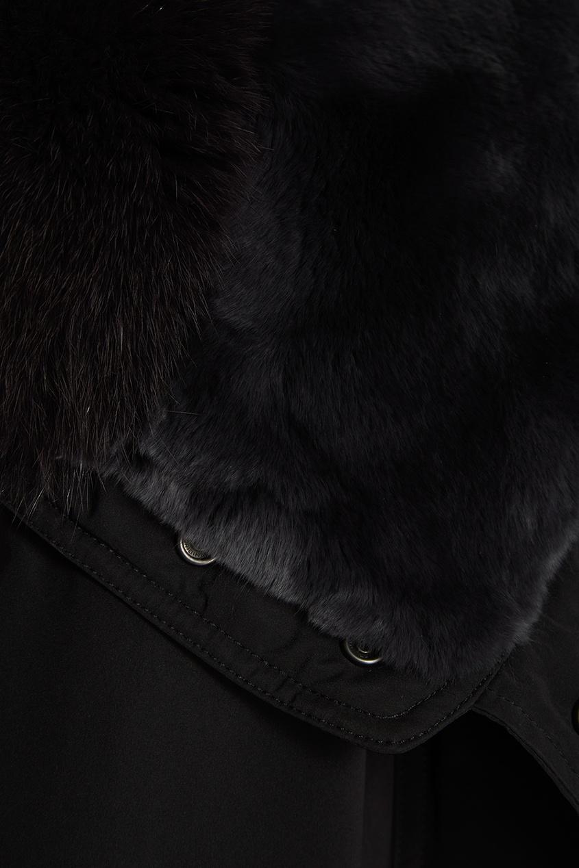 женская парка woolrich, черная