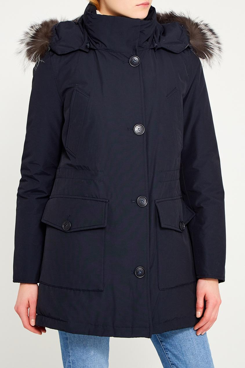 Woolrich Темно-синяя хлопковая парка цены онлайн