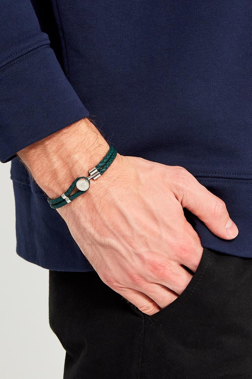Canali Зеленый браслет из кожи плетеный шнурок из натуральной кожи