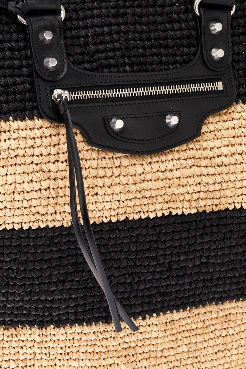 Плетеная сумка-корзинка из рафии