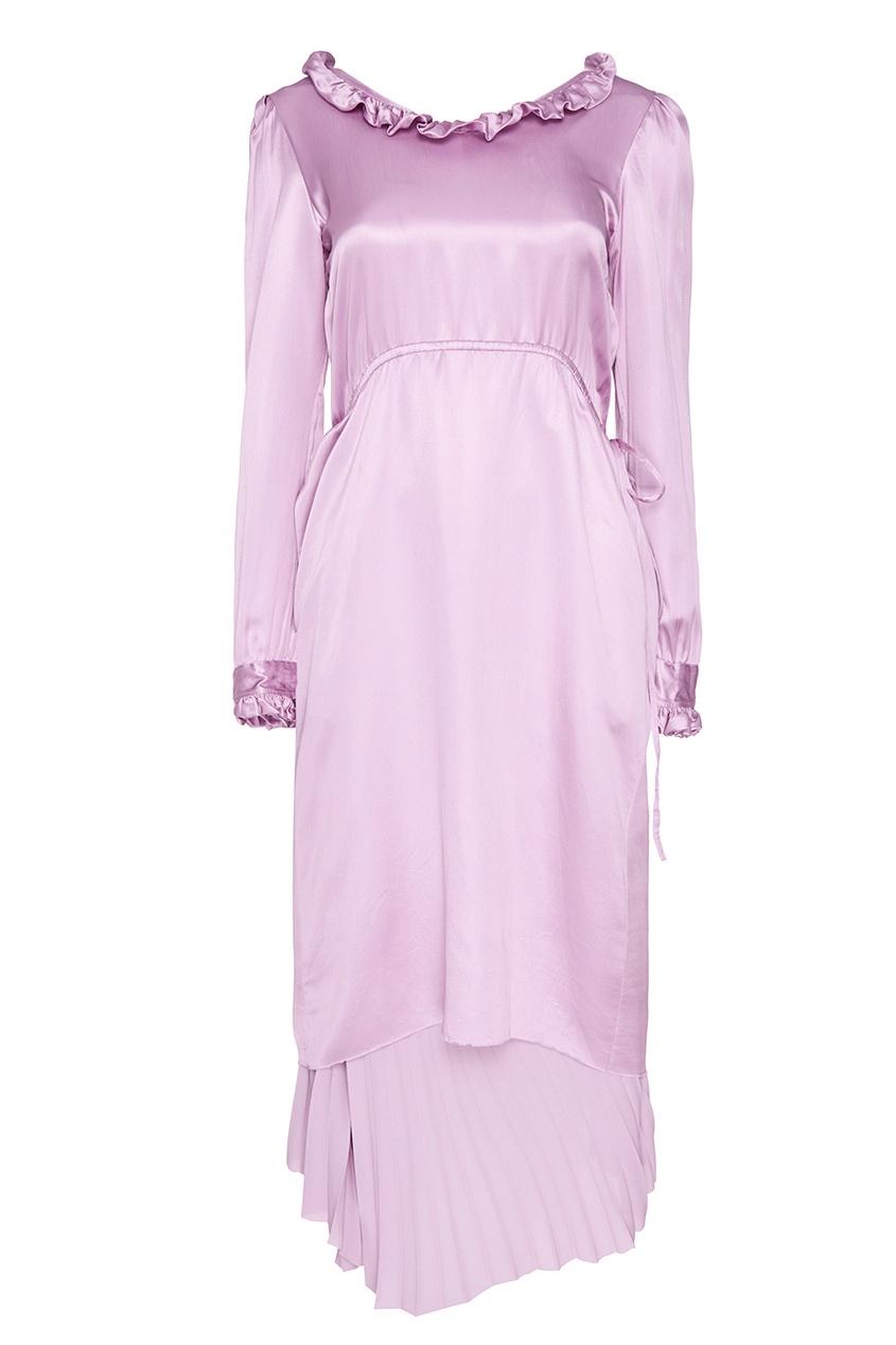 Balenciaga Шелковое платье с оборками chapurin шелковое платье с оборками