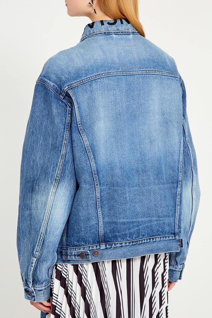 Balenciaga Голубая куртка из вареного денима balenciaga джинсовые брюки