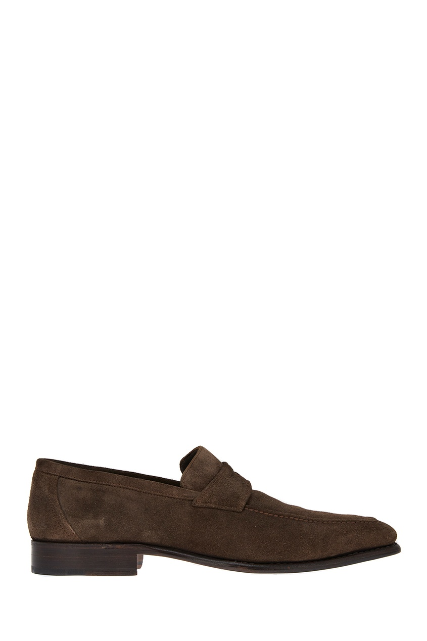 мужские лоферы canali, коричневые