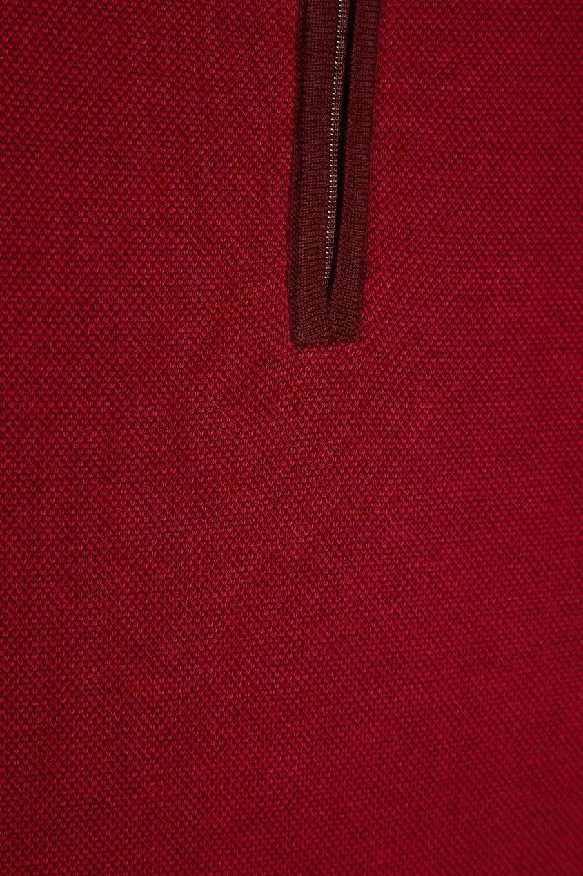 Canali Красный хлопковый джемпер-поло