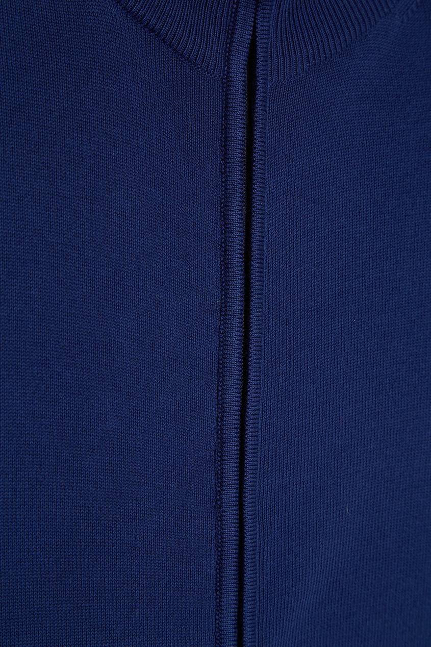 Canali Синее хлопковое худи худи