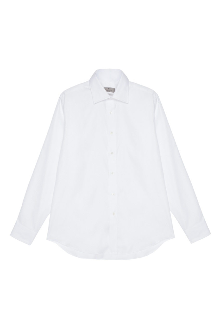 мужская рубашка canali, белая