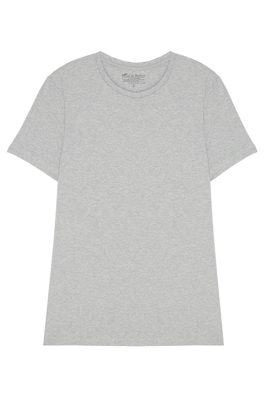 Bread&Boxers Серая футболка с круглым вырезом футболка 560 с короткими рукавами спортивная для малышей серая