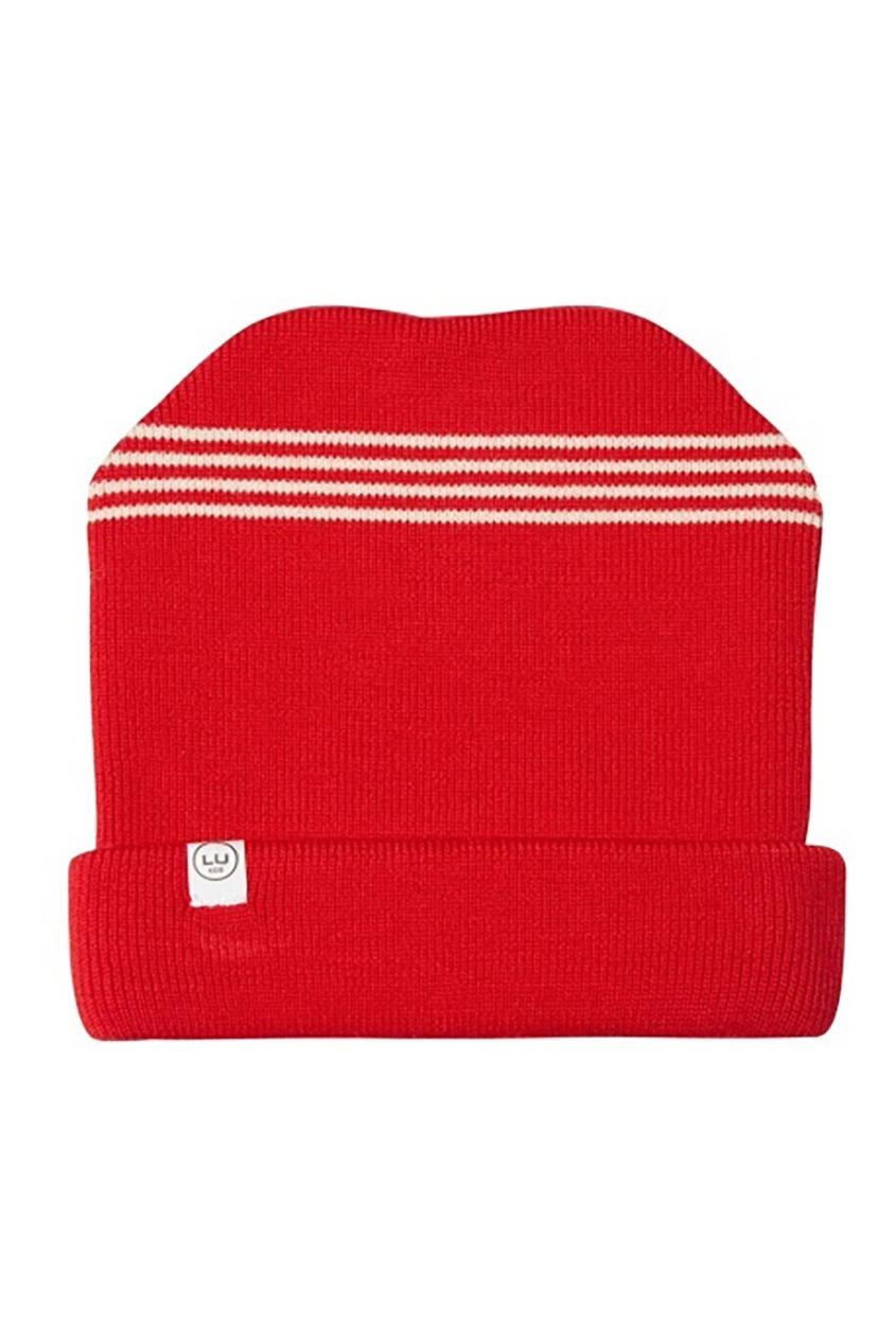 Красная шерстяная шапка LU KIDS