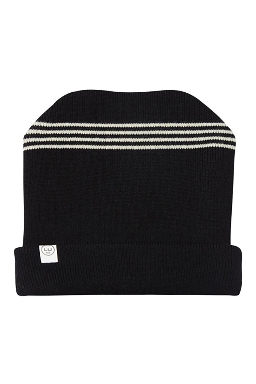 Черная шерстяная шапка LU KIDS