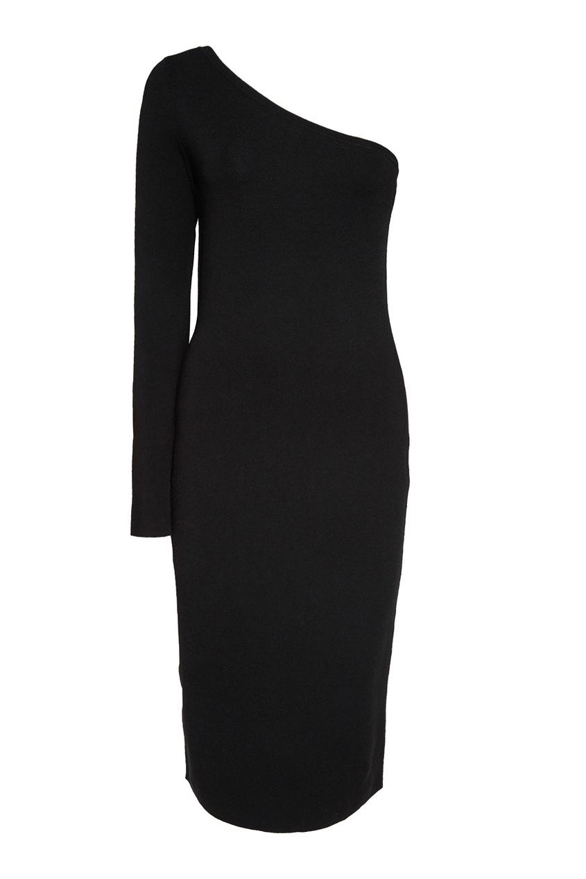 diane von furstenberg однотонный жакет Diane von Furstenberg Черное платье с открытым плечом