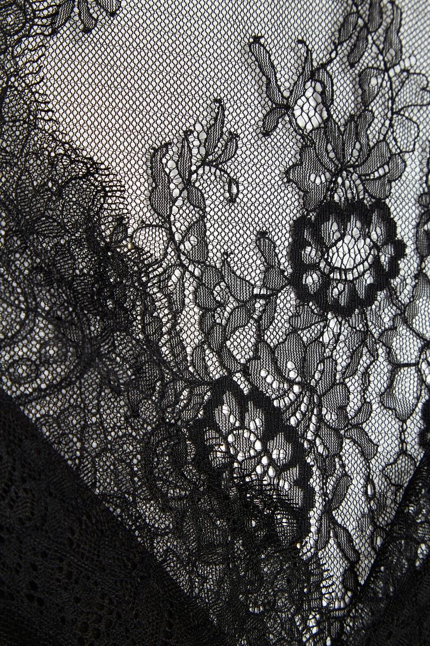 Черное кружевное платье