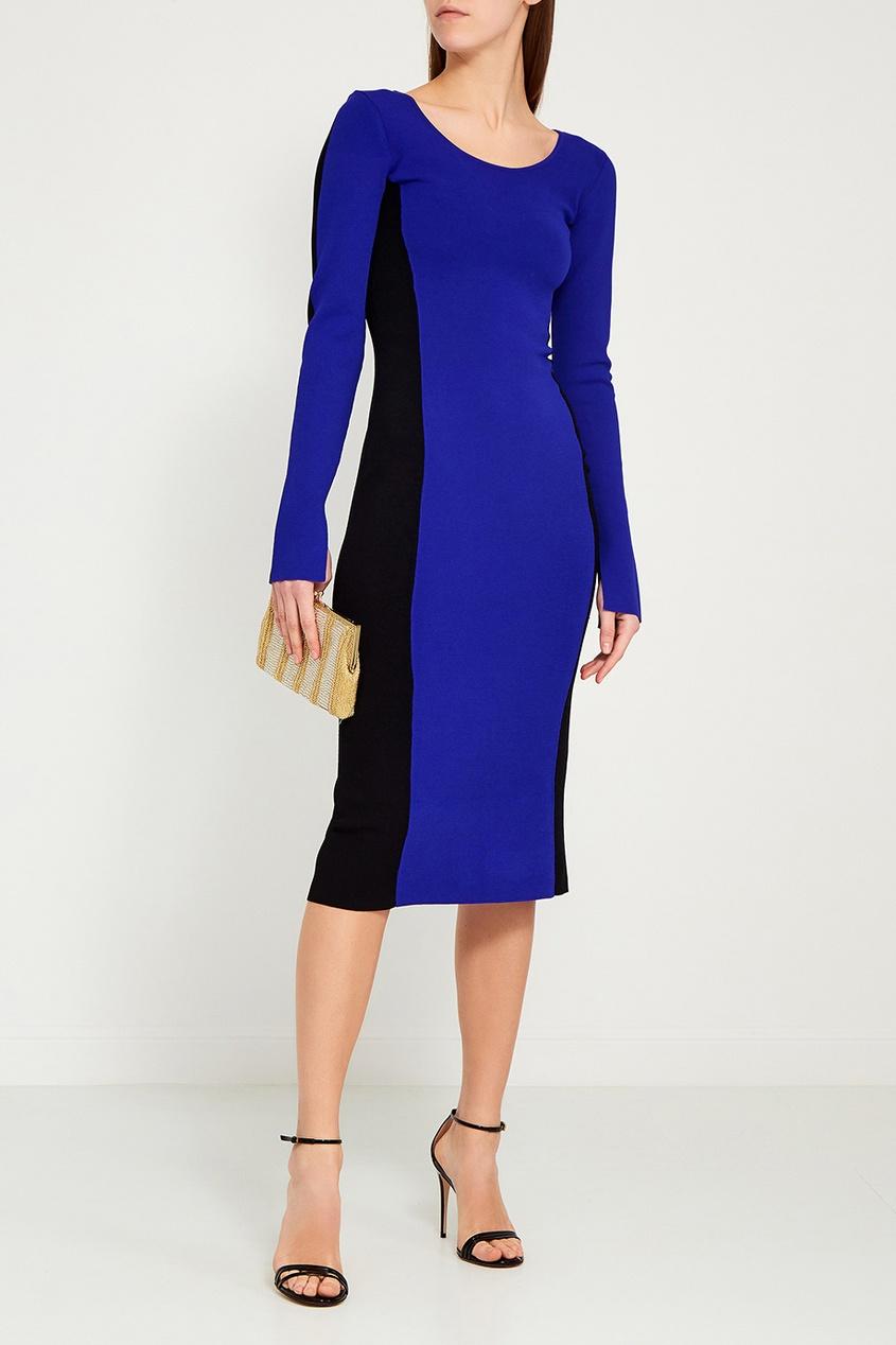 Комбинированное платье-футляр