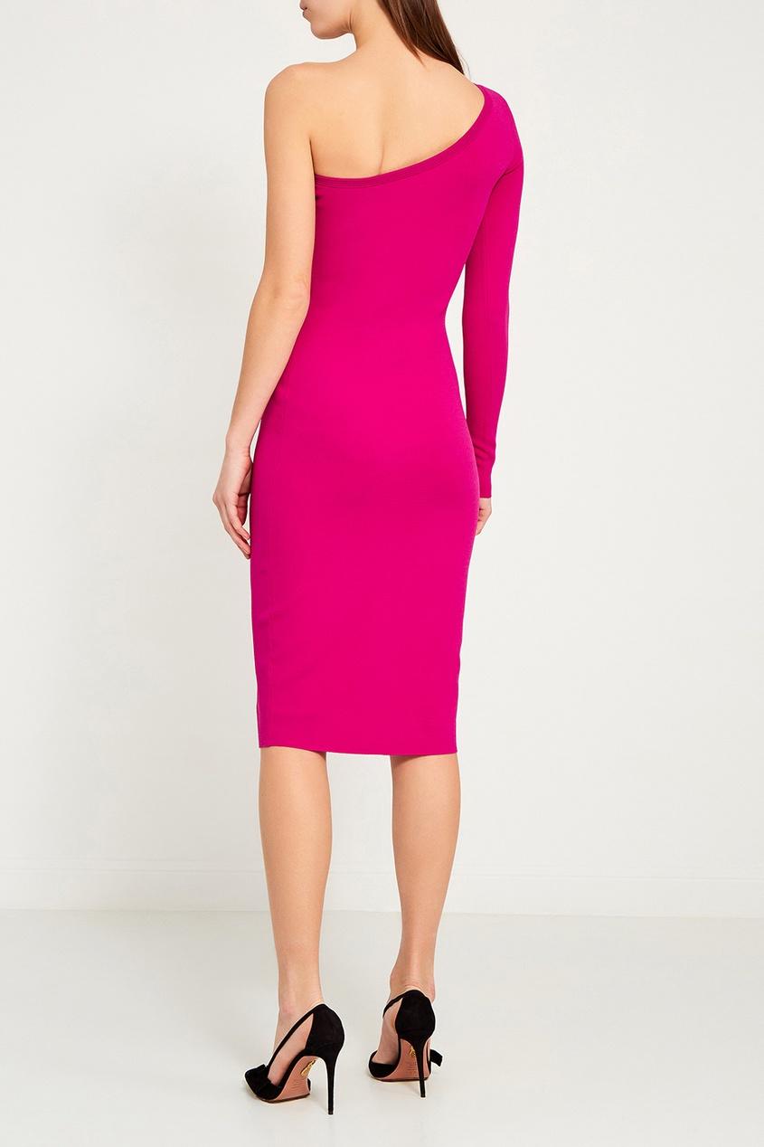 цена Diane von Furstenberg Розовое платье с открытым плечом онлайн в 2017 году
