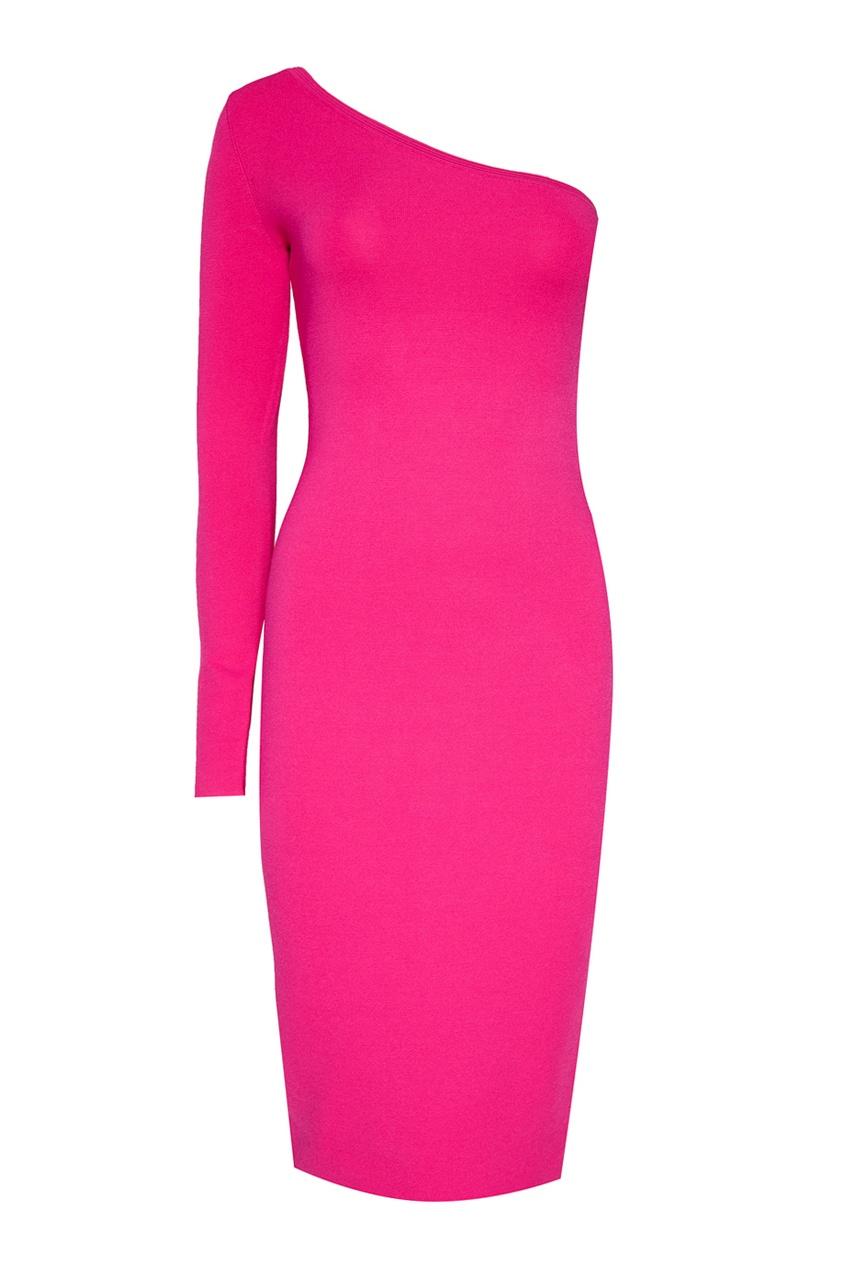 diane von furstenberg однотонный жакет Diane von Furstenberg Розовое платье с открытым плечом