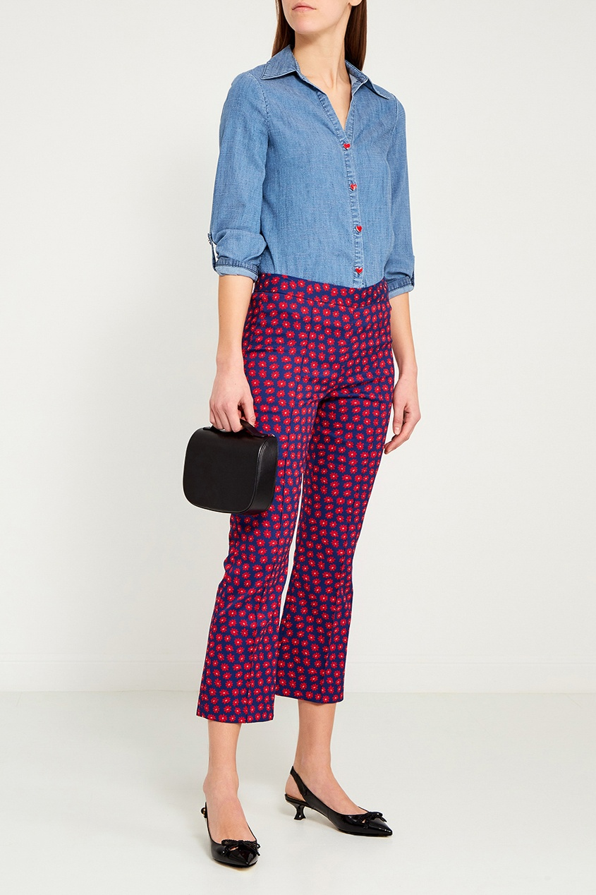 Хлопковые брюки с цветами