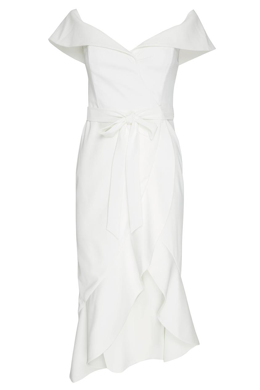 Alice + Olivia Асимметричное платье с открытыми плечами платье alice olivia alice olivia al054ewyzd26
