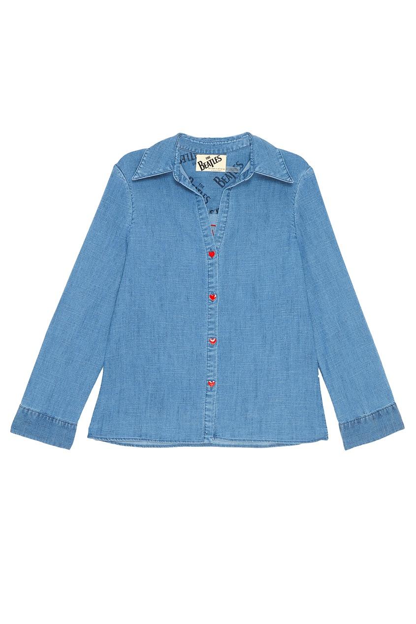 Alice + Olivia Джинсовая рубашка с пуговицами alice a007e c