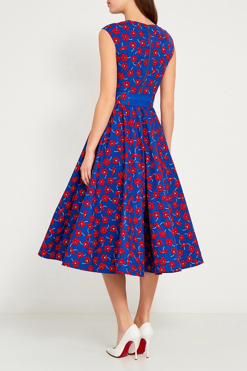 Alice + Olivia Хлопковое платье с цветами ist пояс из кордуры с пластиковой пряжкой