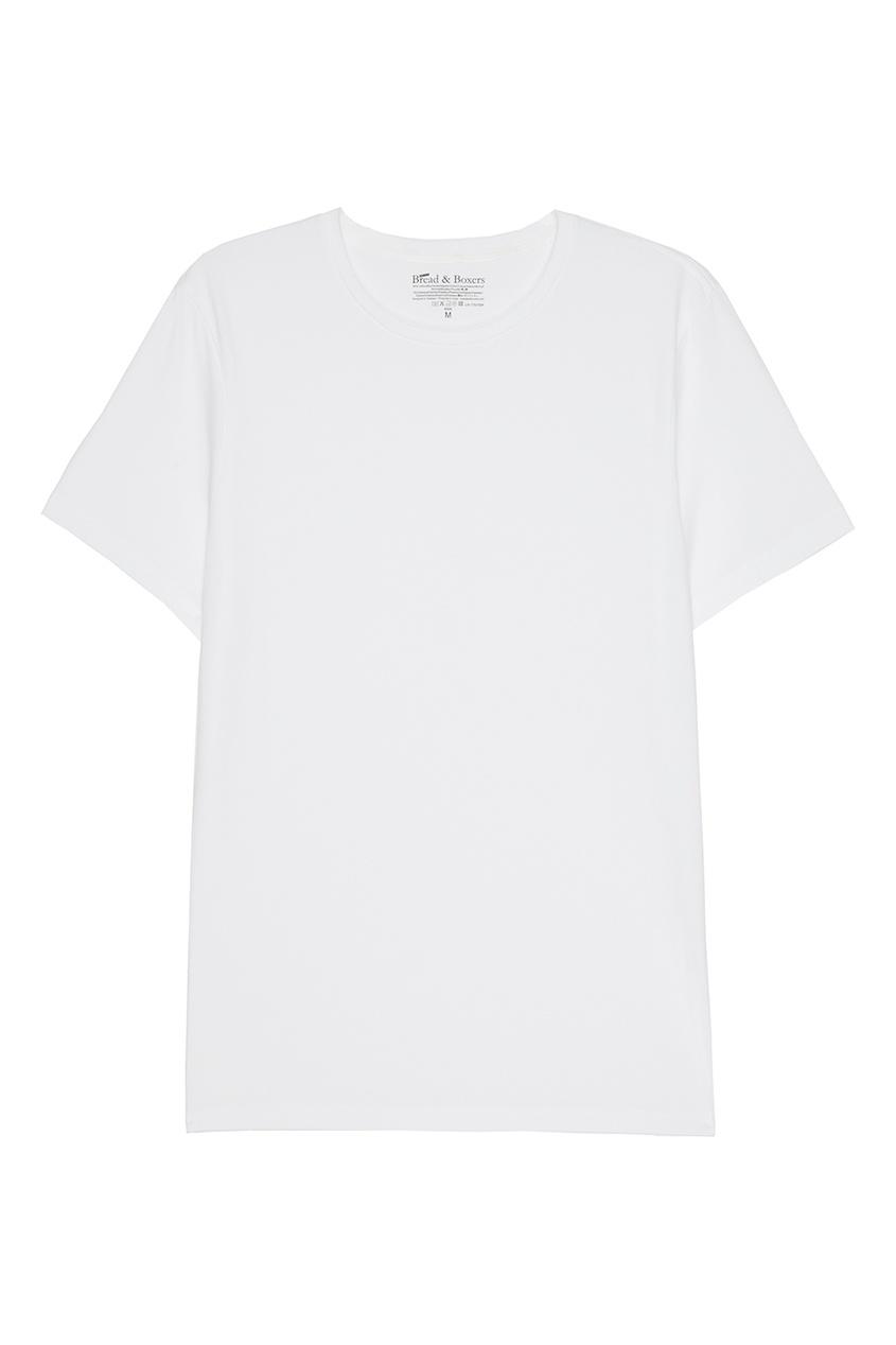 Bread&Boxers Белая футболка с круглым вырезом футболка белая с принтом ido ут 00004169