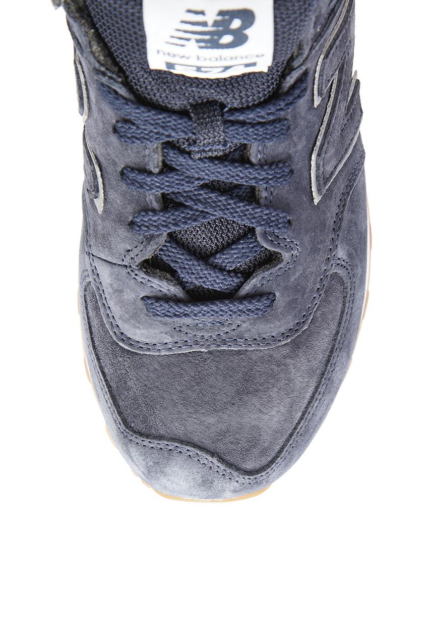 New Balance Синие замшевые кроссовки №574 кроссовки new balance gw500lgt b