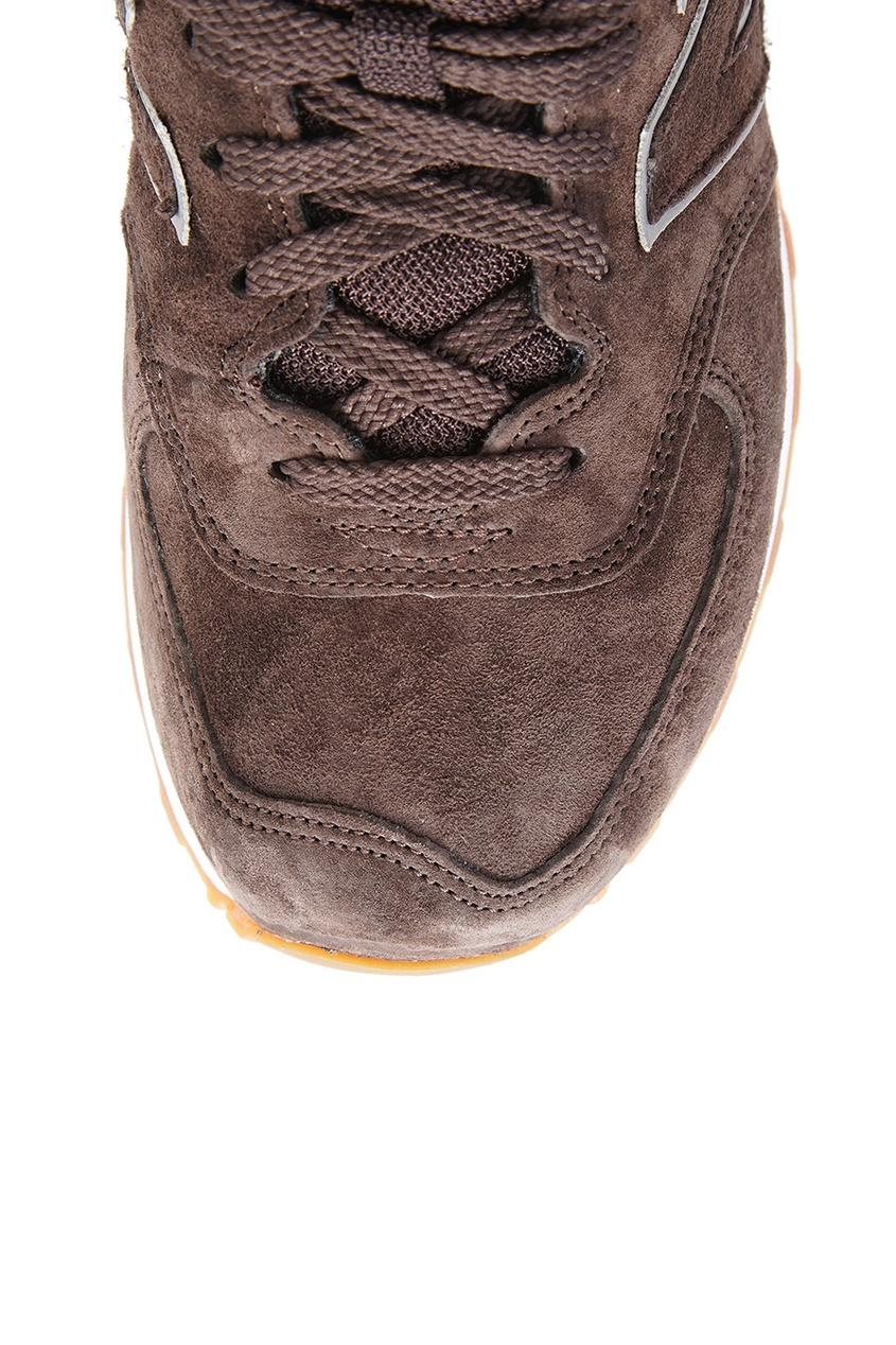 New Balance Коричневые замшевые кроссовки №574 кроссовки new balance gw500lgt b
