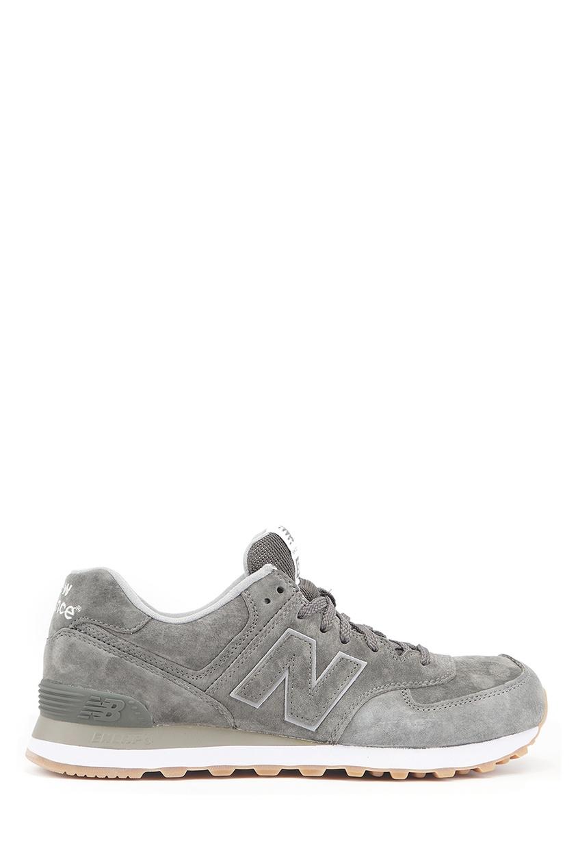 New Balance Светло-серые замшевые кроссовки №574 купить new balance u420ukg в сургуте