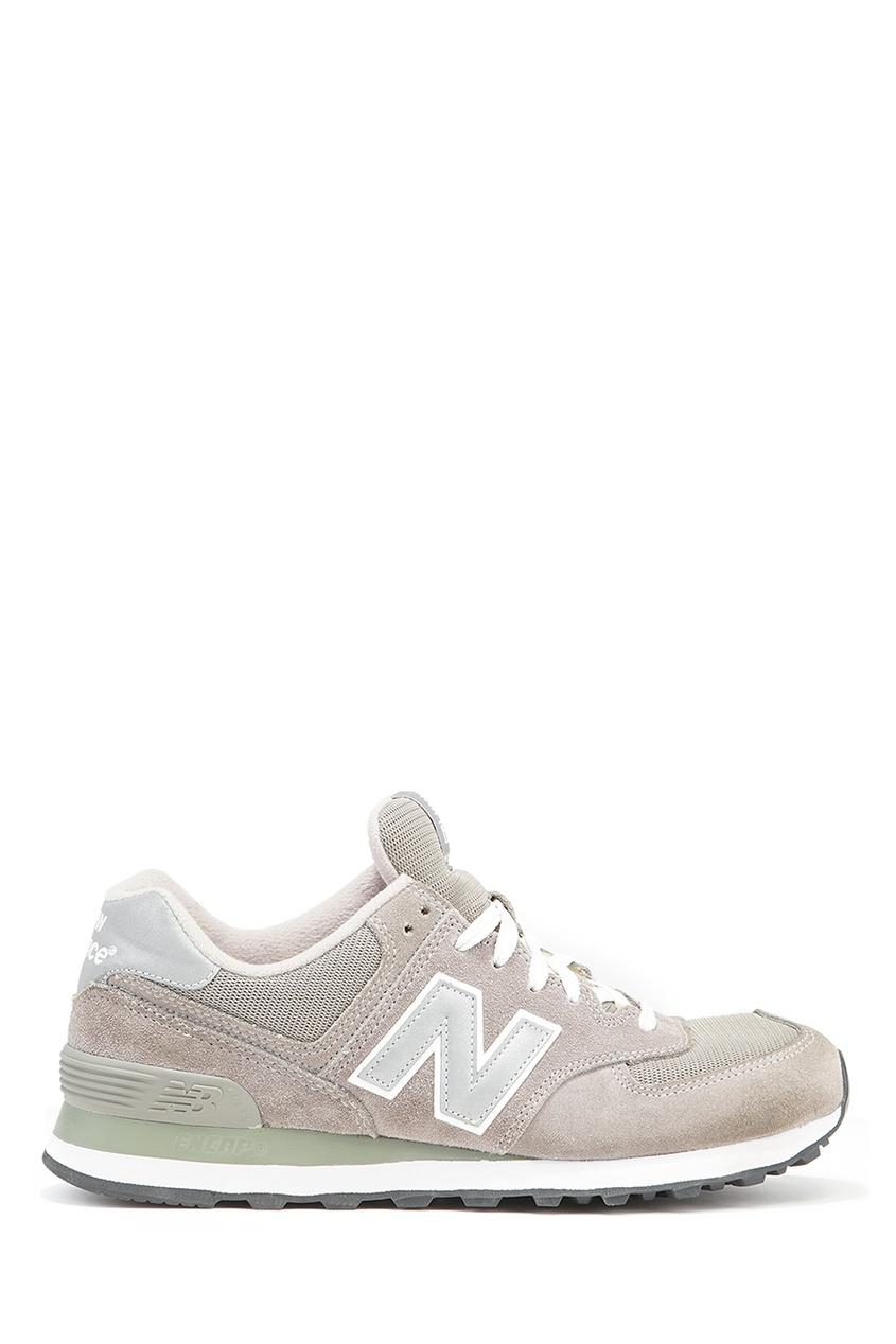 New Balance Бежевые кроссовки из замши №574 купить new balance u420ukg в сургуте