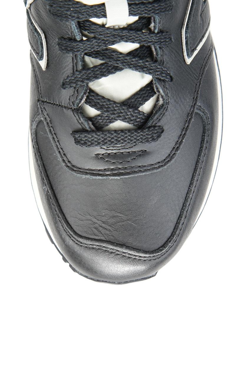 New Balance Черные кожаные кроссовки №574 кроссовки new balance gw500lgt b