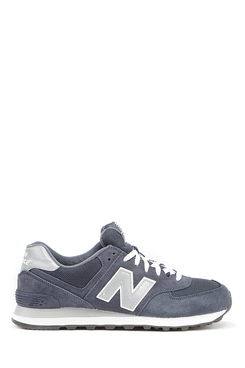 New Balance Светло-серые кроссовки из замши №574 billionaire серые кроссовки с бархатными вставками