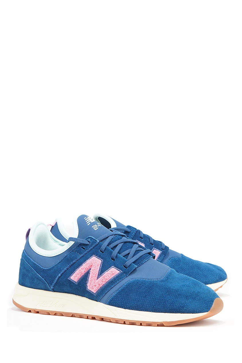 New Balance Синие замшевые кроссовки №247 кроссовки new balance gw500lgt b