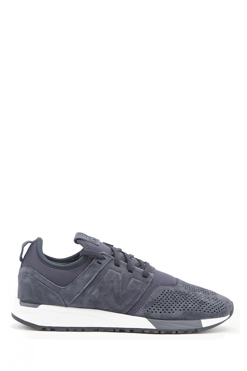 New Balance Синие замшевые кроссовки №247 купить new balance u420ukg в сургуте