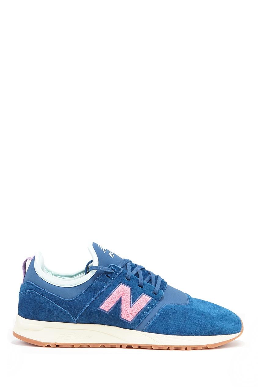 New Balance Синие замшевые кроссовки №247 new balance кроссовки new balance 490v4
