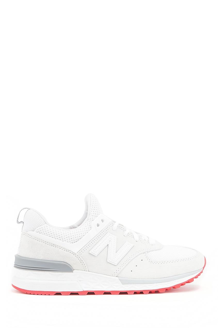 New Balance Бежевые замшевые кроссовки №574 купить new balance u420ukg в сургуте