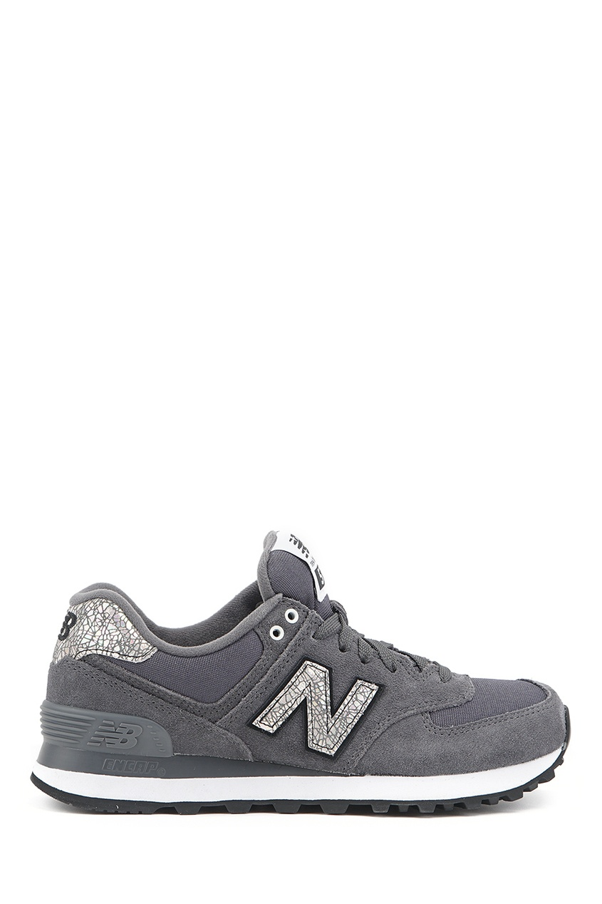 New Balance Серые кроссовки из замши №574 billionaire серые кроссовки с бархатными вставками