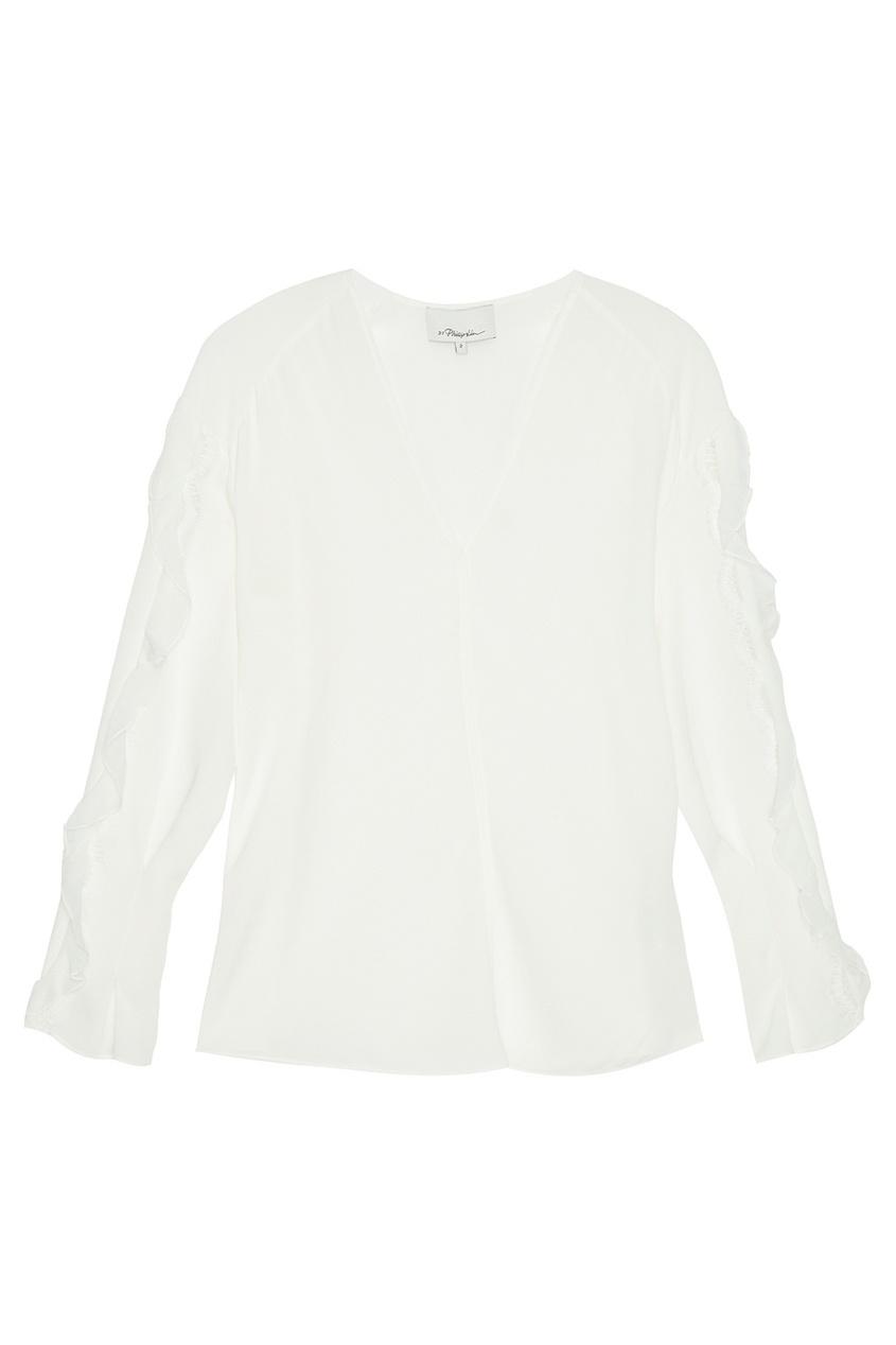 3.1 Phillip Lim Белая шелковая блузка