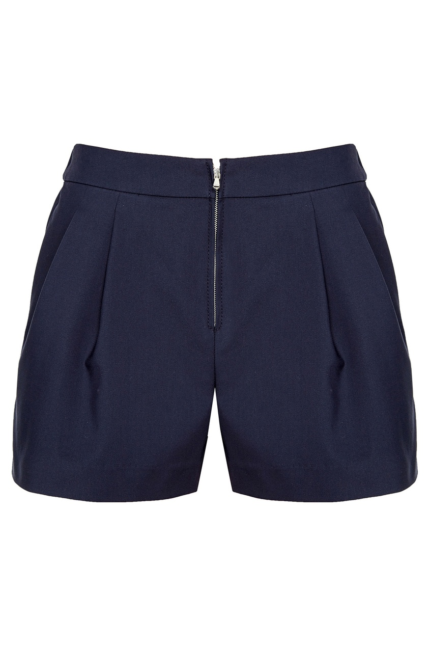 Синие хлопковые шорты