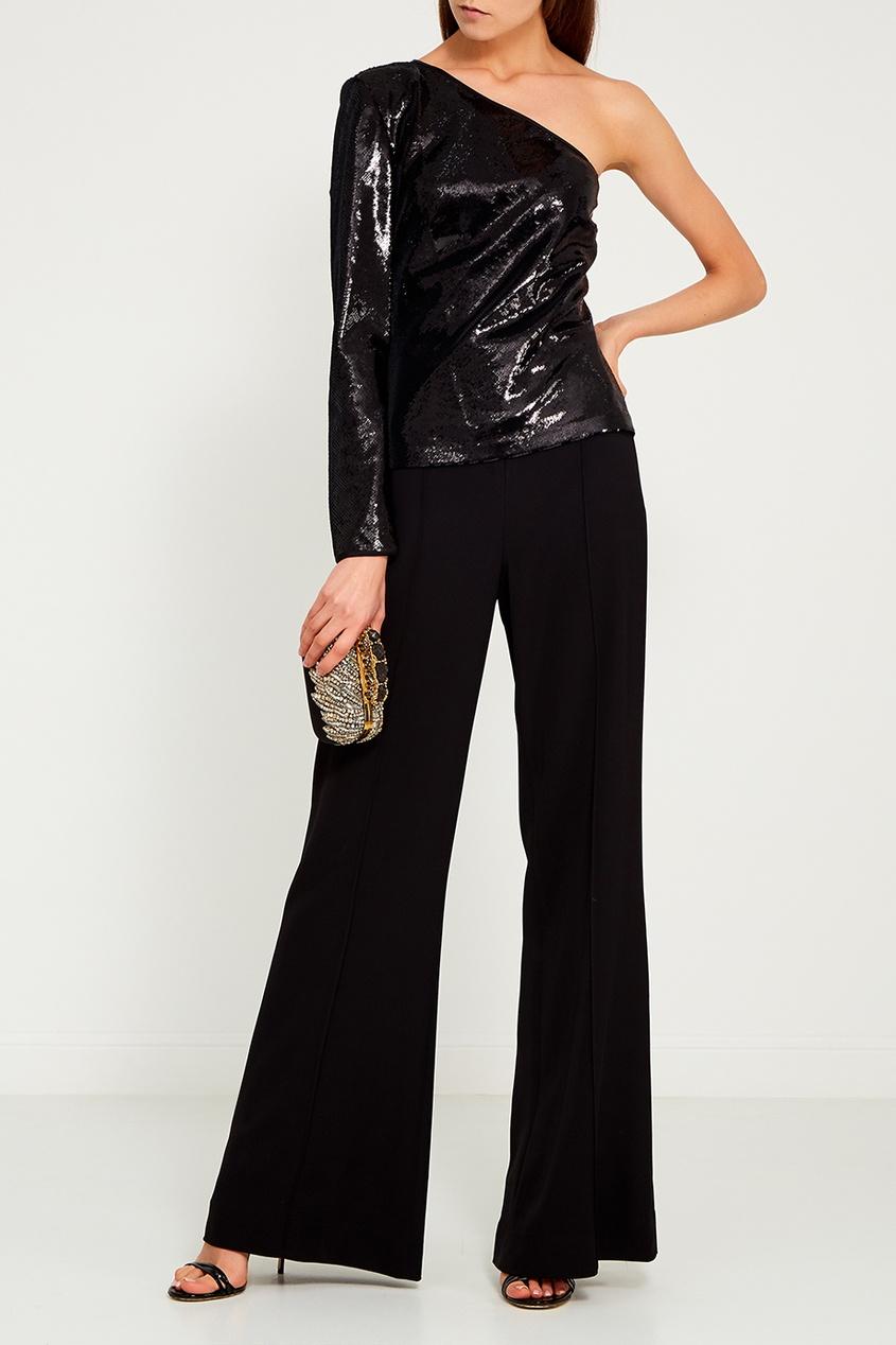 Diane von Furstenberg Асимметричная блузка в пайетках
